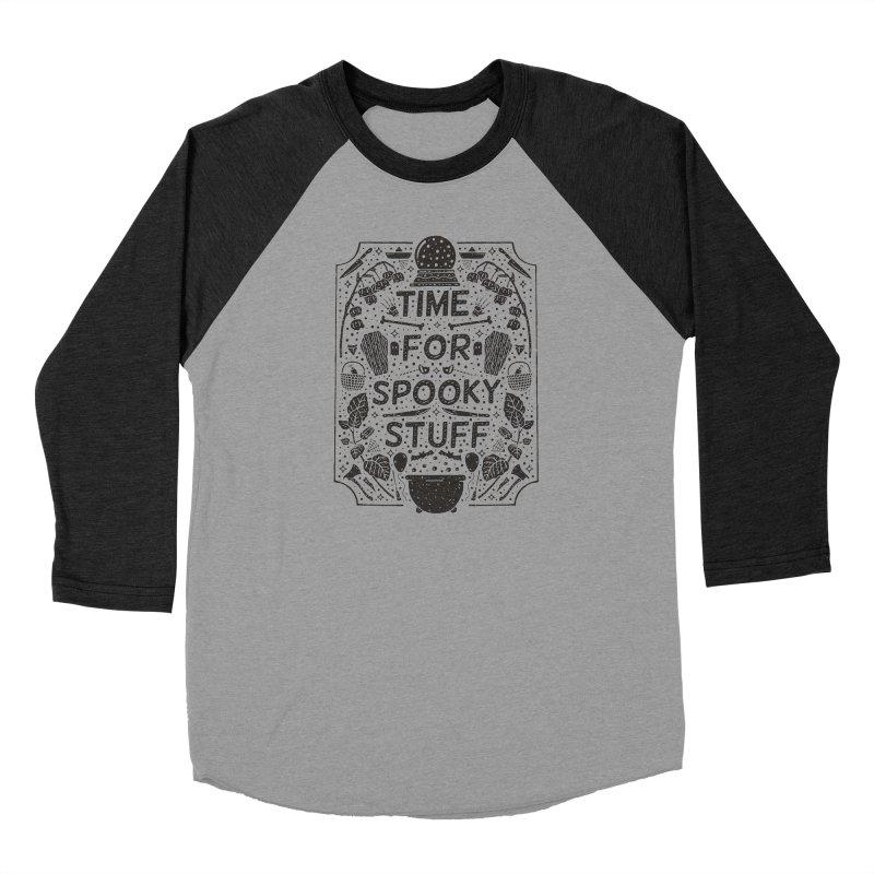 Time For Spooky Stuff (black) Women's Baseball Triblend Longsleeve T-Shirt by Rupertbeard