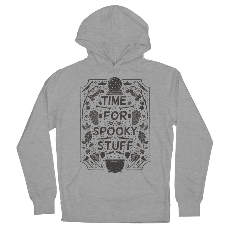 Time For Spooky Stuff (black) Women's French Terry Pullover Hoody by Rupertbeard