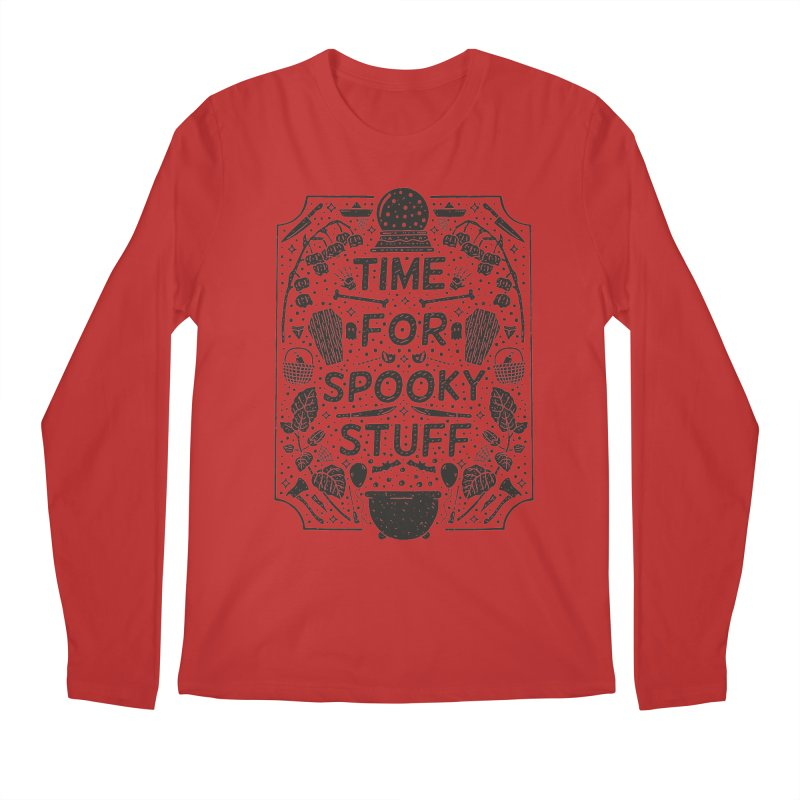 Time For Spooky Stuff (black) Men's Regular Longsleeve T-Shirt by Rupertbeard