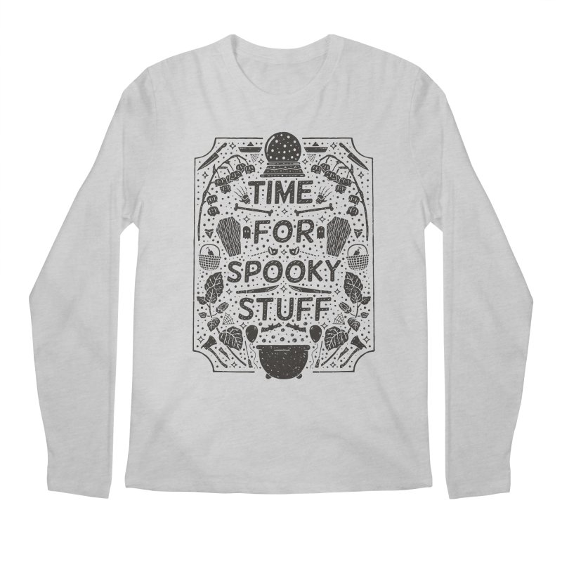 Time For Spooky Stuff (black) Men's Regular Longsleeve T-Shirt by Rupertbeard
