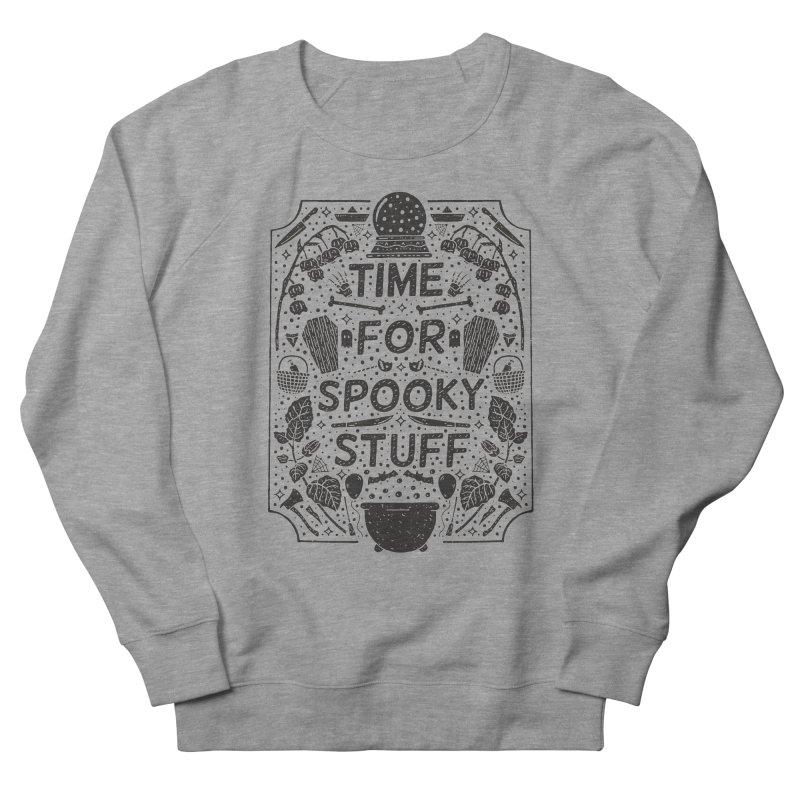 Time For Spooky Stuff (black) Women's French Terry Sweatshirt by Rupertbeard