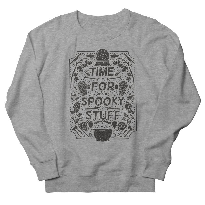 Time For Spooky Stuff (black) Men's French Terry Sweatshirt by Rupertbeard