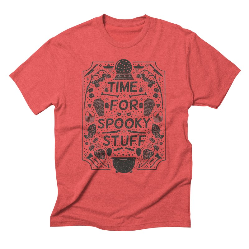 Time For Spooky Stuff (black) Men's T-Shirt by Rupertbeard