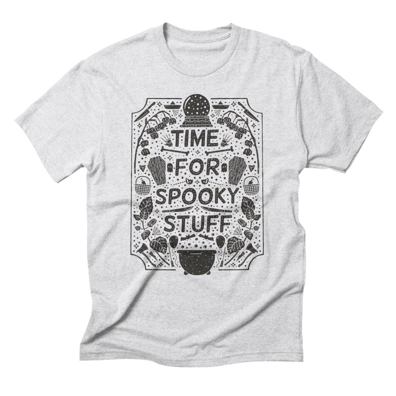 Time For Spooky Stuff (black) Men's Triblend T-Shirt by Rupertbeard