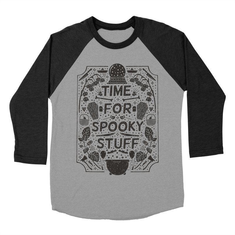 Time For Spooky Stuff (black) Men's Baseball Triblend Longsleeve T-Shirt by Rupertbeard