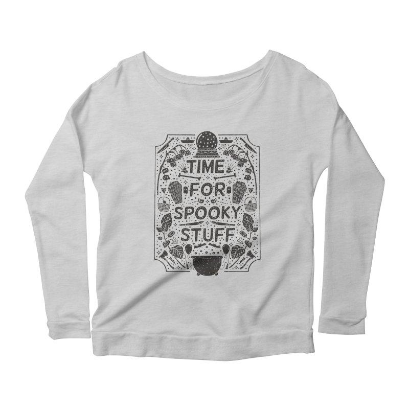 Time For Spooky Stuff (black) Women's Longsleeve T-Shirt by Rupertbeard