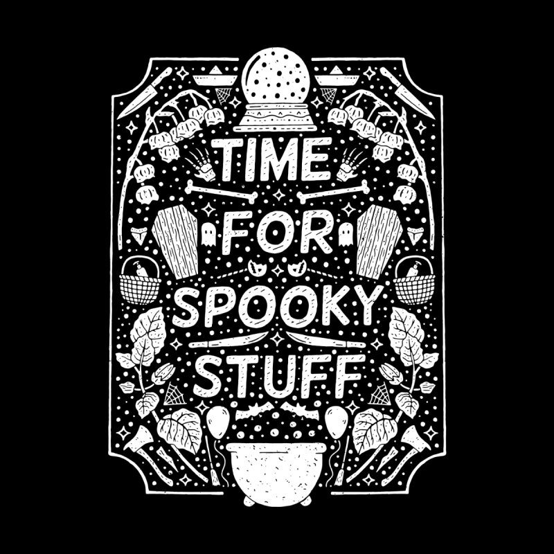 Time For Spooky Stuff (white) Women's Longsleeve T-Shirt by Rupertbeard