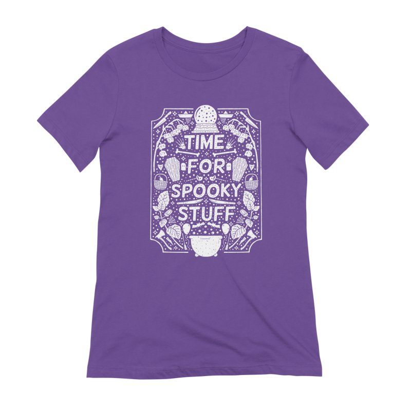 Time For Spooky Stuff (white) Women's Extra Soft T-Shirt by Rupertbeard