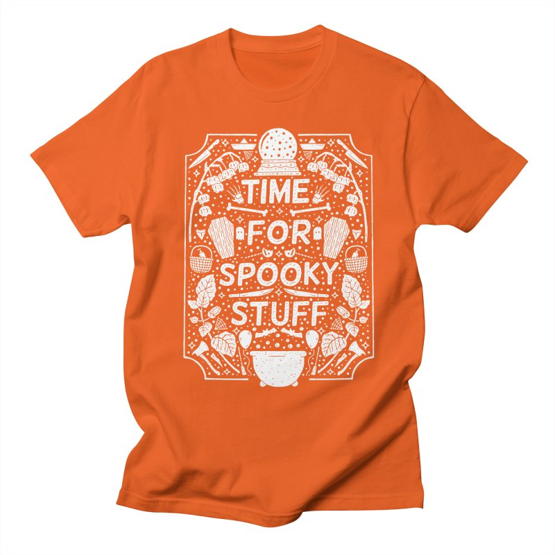 Time For Spooky Stuff (white) Men's T-Shirt by Rupertbeard