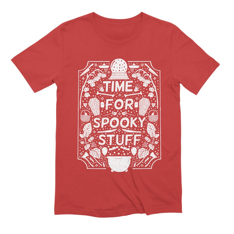Time For Spooky Stuff (white) Men's Extra Soft T-Shirt by Rupertbeard