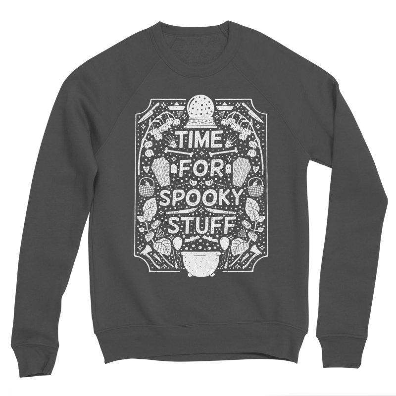 Time For Spooky Stuff (white) Men's Sponge Fleece Sweatshirt by Rupertbeard