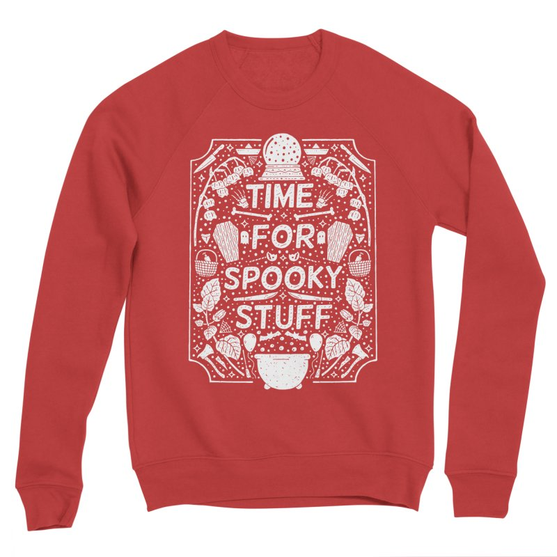 Time For Spooky Stuff (white) Men's Sponge Fleece Sweatshirt by Rupertbeard
