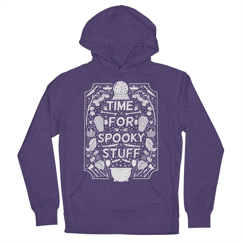 Time For Spooky Stuff (white) Women's French Terry Pullover Hoody by Rupertbeard