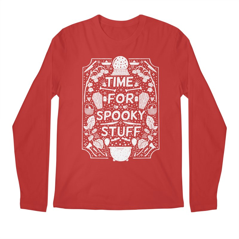 Time For Spooky Stuff (white) Men's Regular Longsleeve T-Shirt by Rupertbeard
