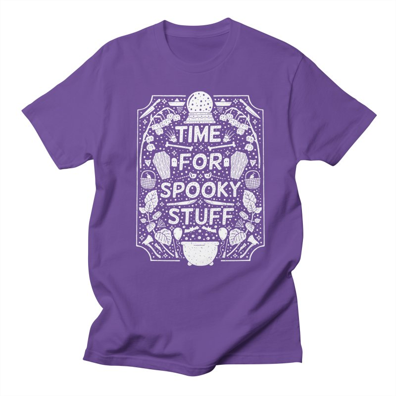 Time For Spooky Stuff (white) Men's Regular T-Shirt by Rupertbeard