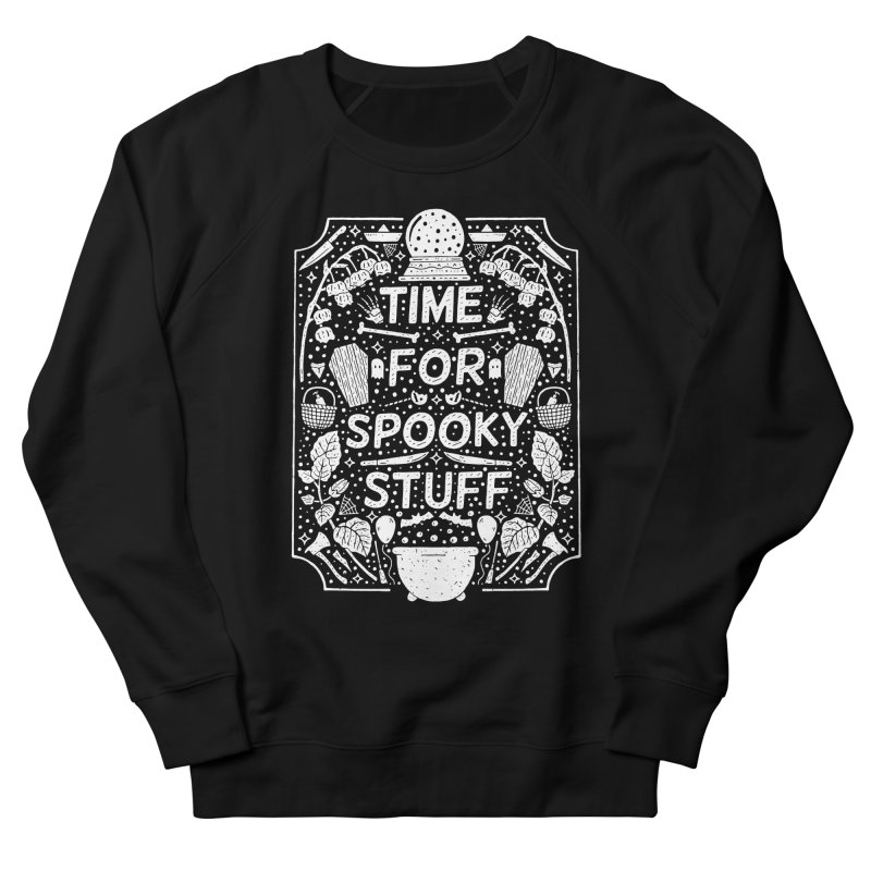 Time For Spooky Stuff (white) Men's French Terry Sweatshirt by Rupertbeard