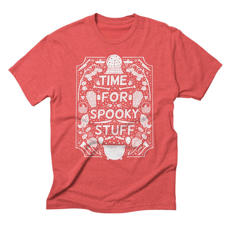 Time For Spooky Stuff (white) Men's Triblend T-Shirt by Rupertbeard