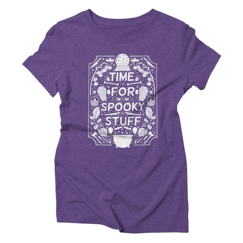 Time For Spooky Stuff (white) Women's Triblend T-Shirt by Rupertbeard
