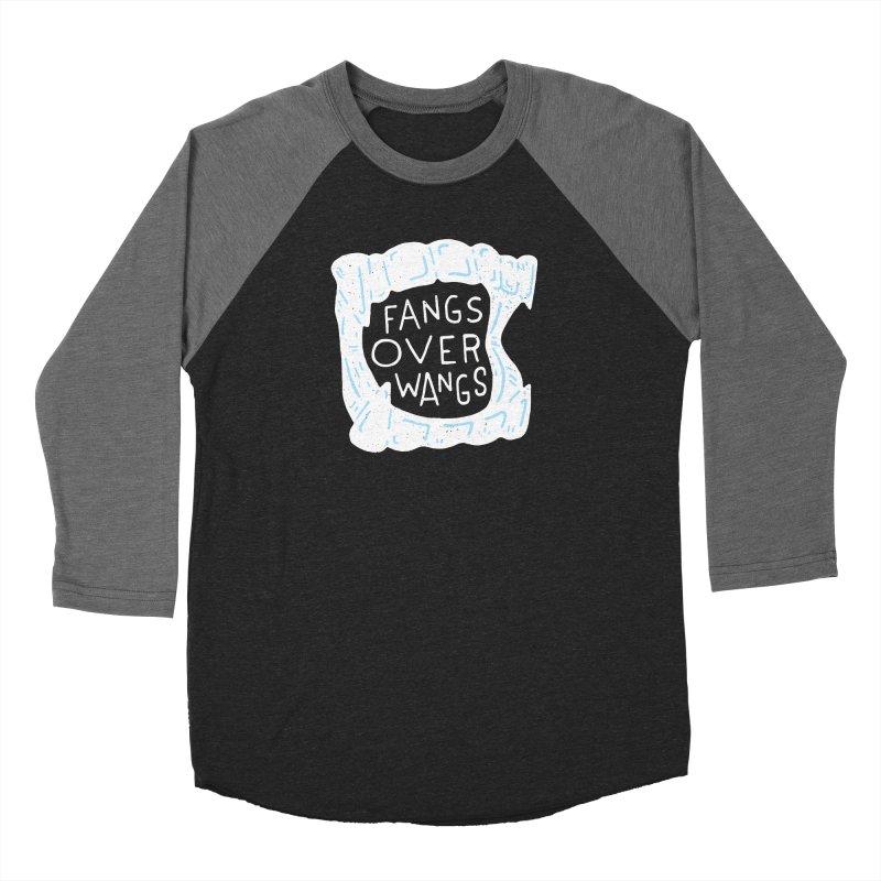 Fangs Over Wangs Men's Baseball Triblend Longsleeve T-Shirt by Rupertbeard