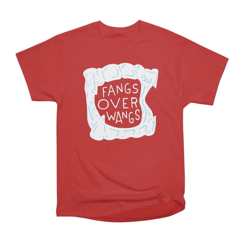 Fangs Over Wangs Women's Heavyweight Unisex T-Shirt by Rupertbeard