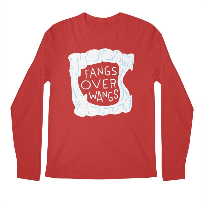 Fangs Over Wangs Men's Regular Longsleeve T-Shirt by Rupertbeard