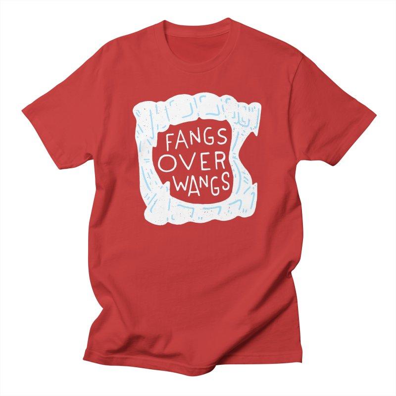 Fangs Over Wangs Women's Regular Unisex T-Shirt by Rupertbeard