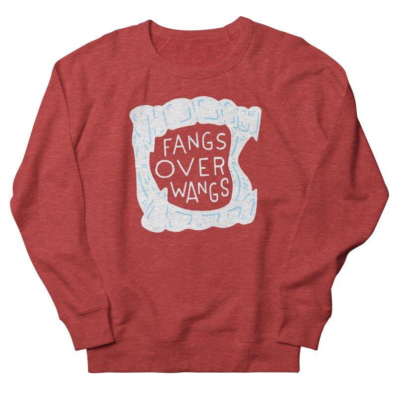 Fangs Over Wangs Men's French Terry Sweatshirt by Rupertbeard