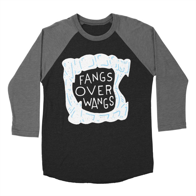 Fangs Over Wangs Women's Baseball Triblend Longsleeve T-Shirt by Rupertbeard