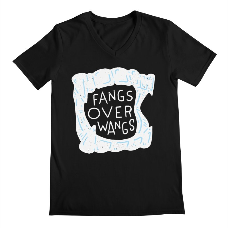 Fangs Over Wangs Men's Regular V-Neck by Rupertbeard