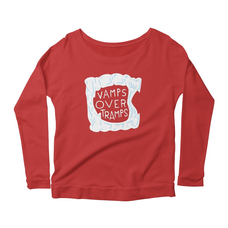 Vamps Over Tramps Women's Scoop Neck Longsleeve T-Shirt by Rupertbeard