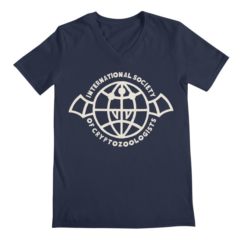 International Society of Cryptozoologists Men's Regular V-Neck by Rupertbeard