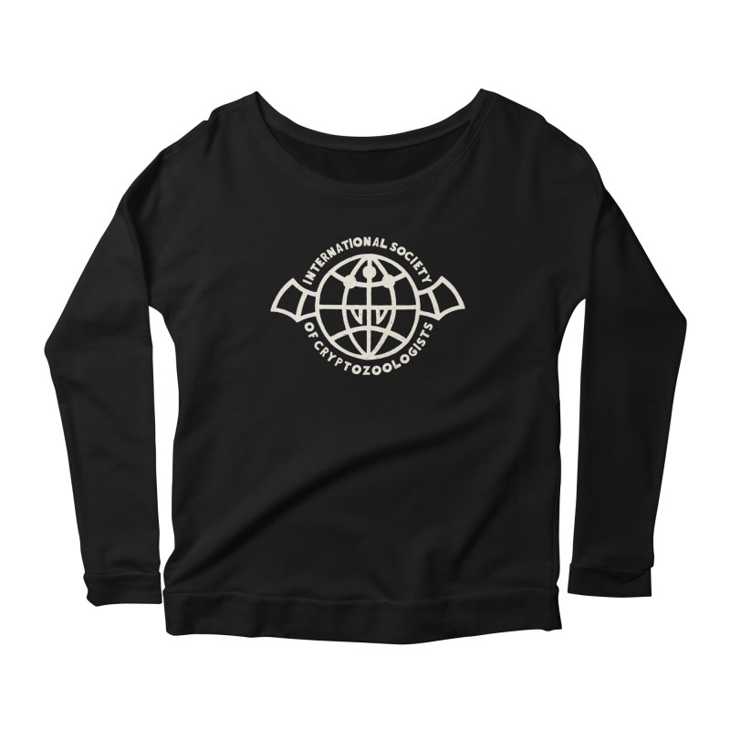 International Society of Cryptozoologists Women's Scoop Neck Longsleeve T-Shirt by Rupertbeard