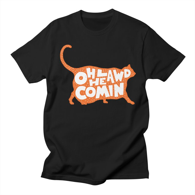Oh Lawd He Comin Men's Regular T-Shirt by Rupertbeard