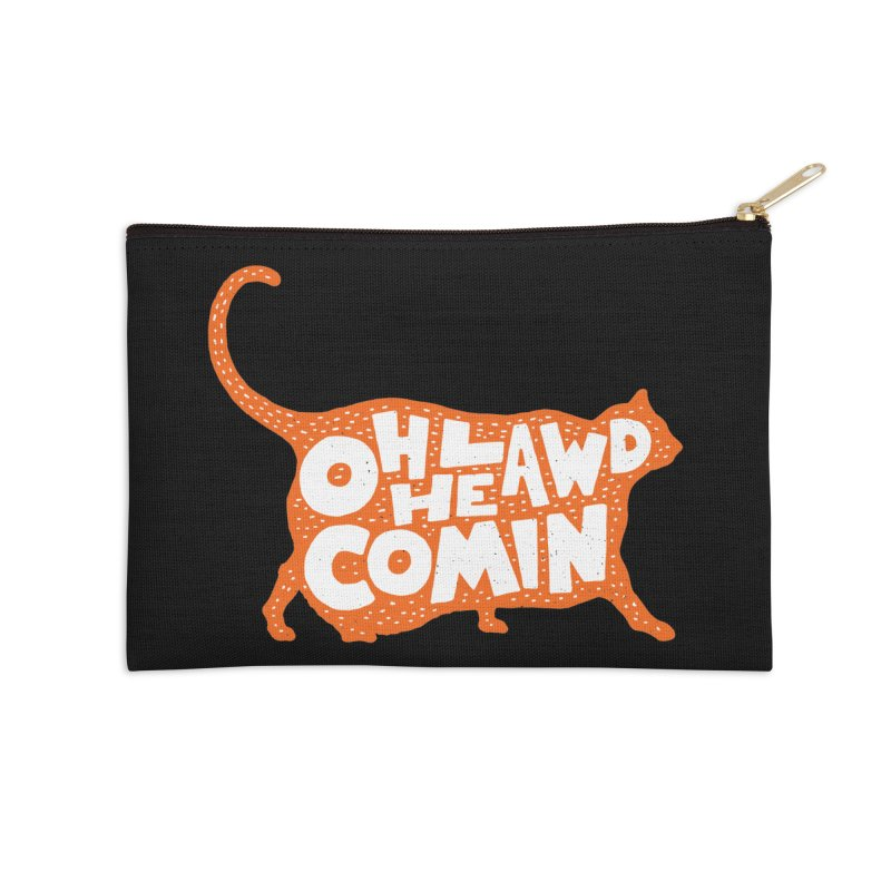 Oh Lawd He Comin Accessories Zip Pouch by Rupertbeard