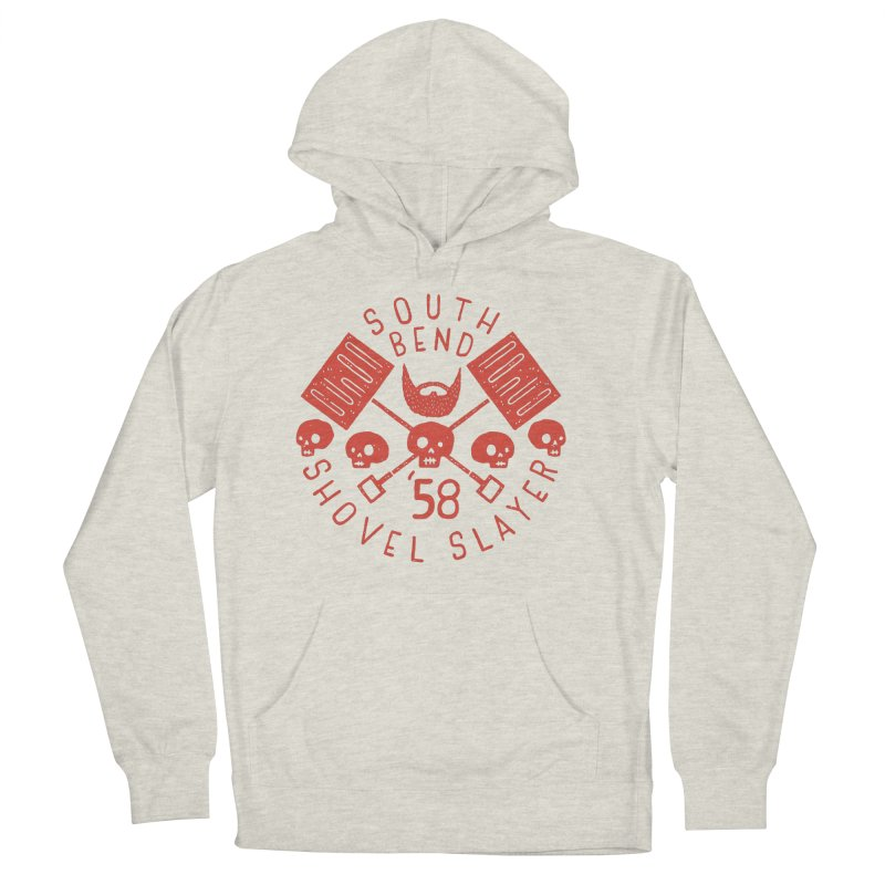 South Bend Shovel Slayer Women's French Terry Pullover Hoody by Rupertbeard