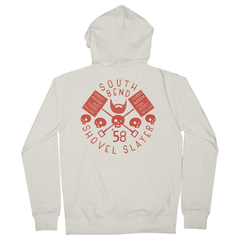South Bend Shovel Slayer Men's French Terry Zip-Up Hoody by Rupertbeard