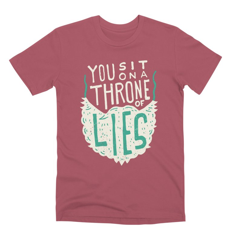 Throne Of Lies Men's Premium T-Shirt by Rupertbeard