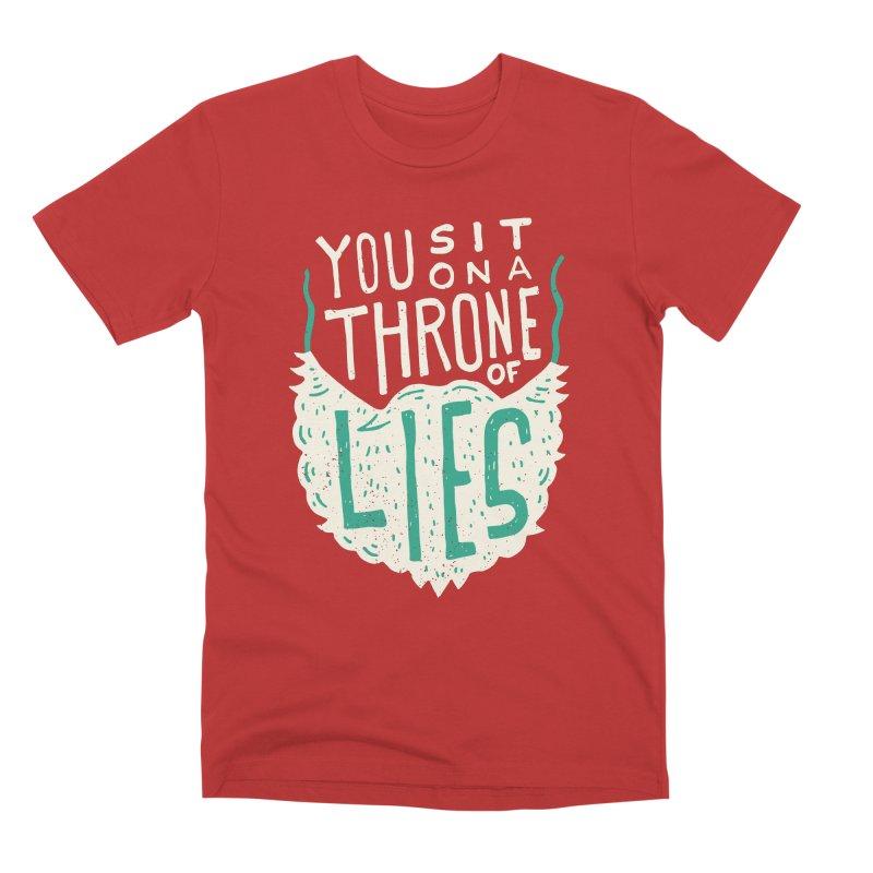 Throne Of Lies Men's Premium T-Shirt by Rupertbeard