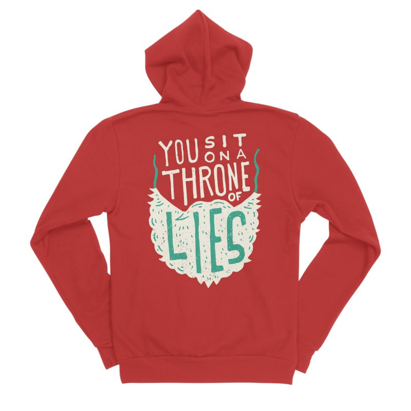 Throne Of Lies Men's Sponge Fleece Zip-Up Hoody by Rupertbeard