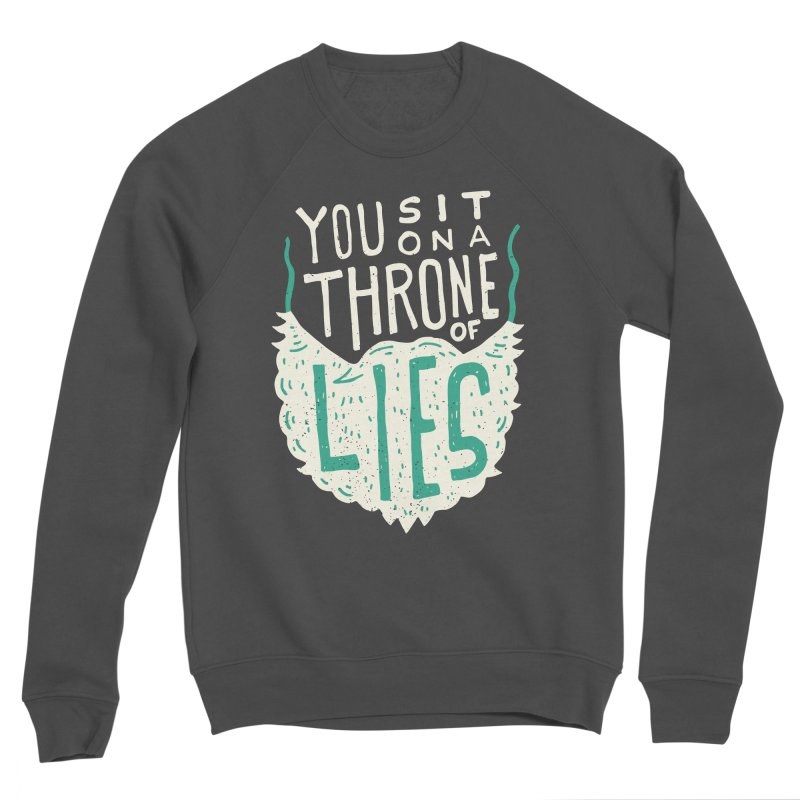Throne Of Lies Men's Sponge Fleece Sweatshirt by Rupertbeard