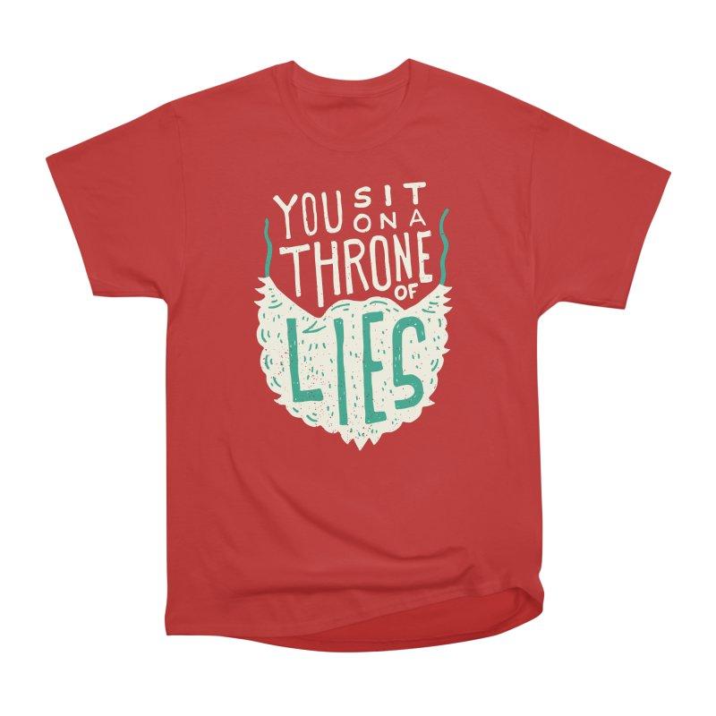 Throne Of Lies Men's Heavyweight T-Shirt by Rupertbeard