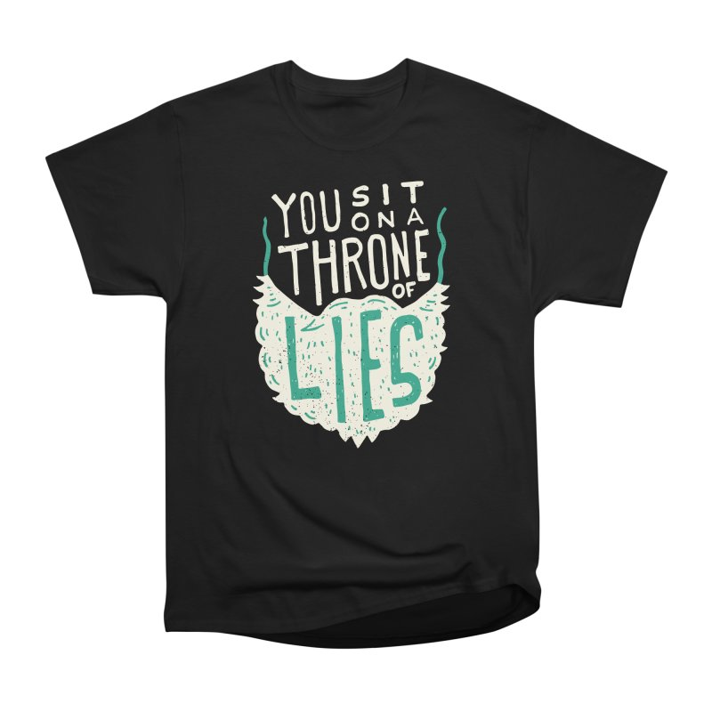Throne Of Lies Women's Heavyweight Unisex T-Shirt by Rupertbeard