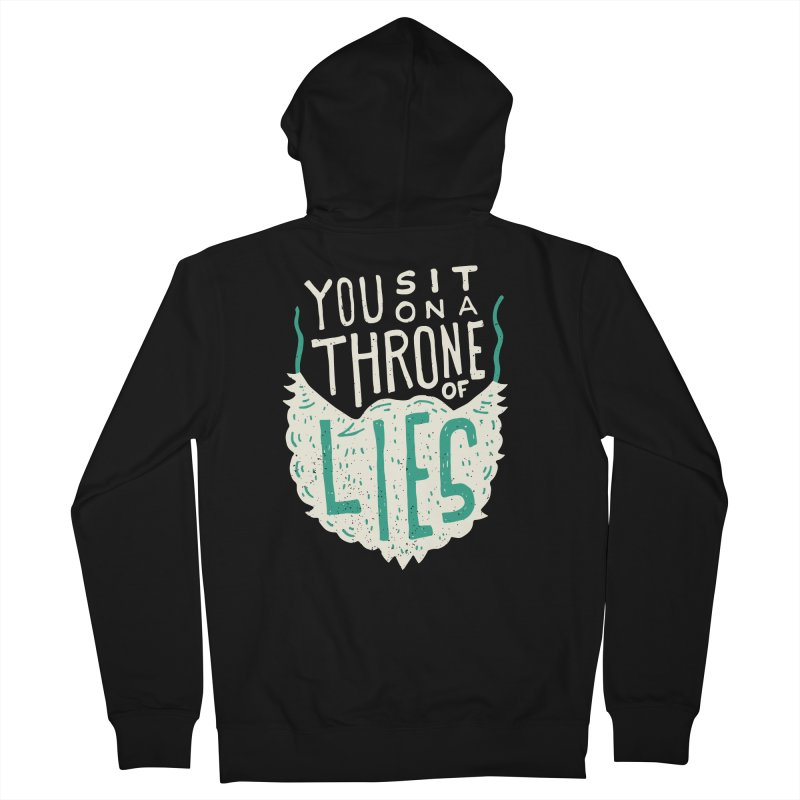 Throne Of Lies Men's French Terry Zip-Up Hoody by Rupertbeard