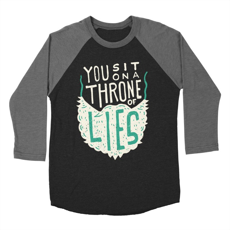 Throne Of Lies Men's Baseball Triblend Longsleeve T-Shirt by Rupertbeard