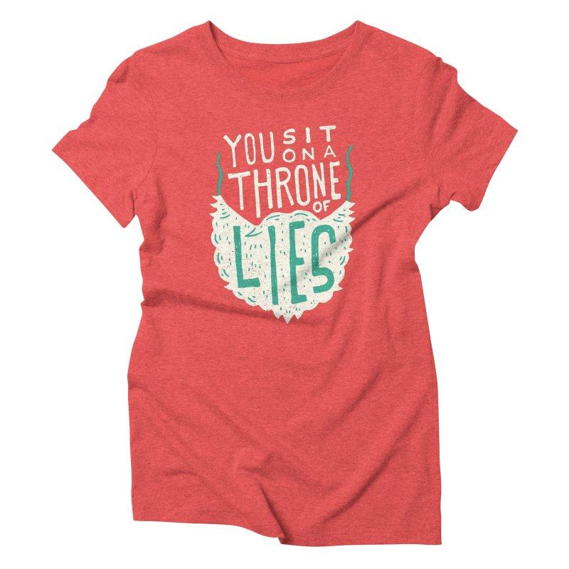 Throne Of Lies Women's T-Shirt by Rupertbeard