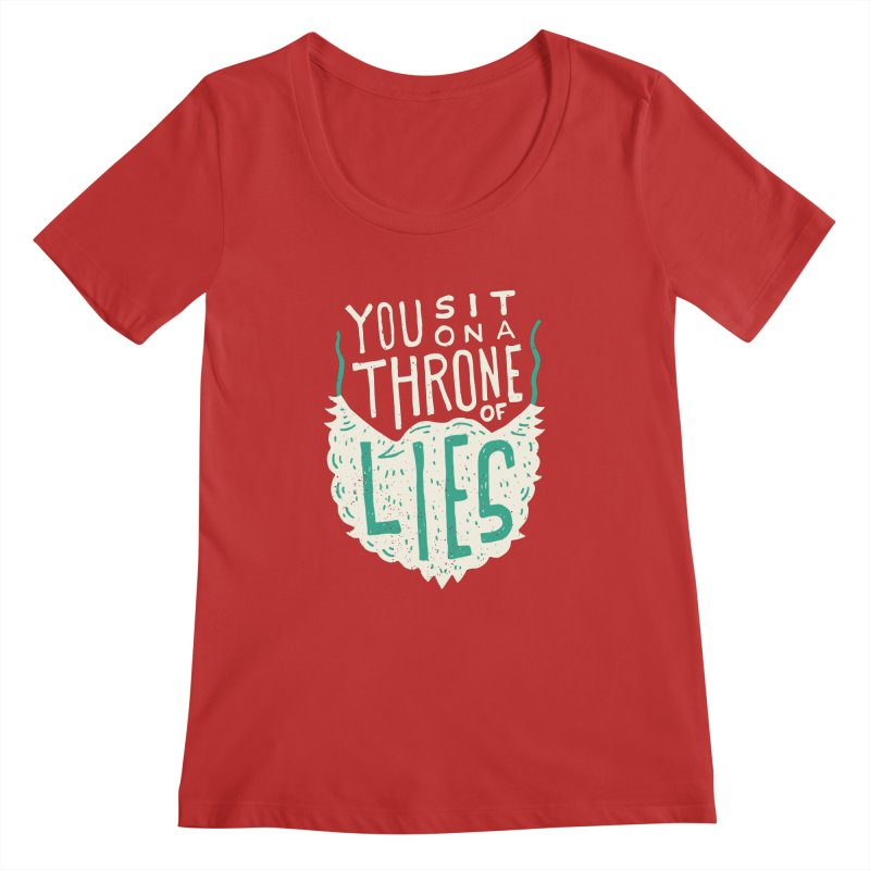 Throne Of Lies Women's Regular Scoop Neck by Rupertbeard