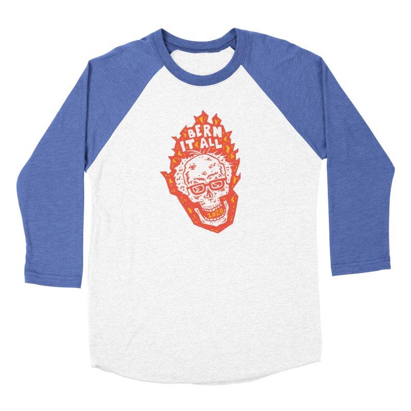 Bern It All Men's Baseball Triblend Longsleeve T-Shirt by Rupertbeard