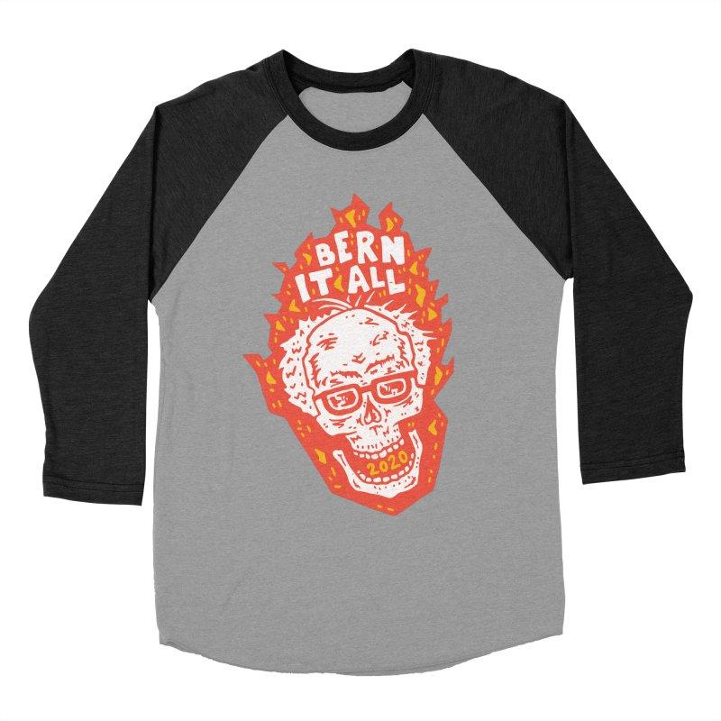 Bern It All Women's Baseball Triblend Longsleeve T-Shirt by Rupertbeard