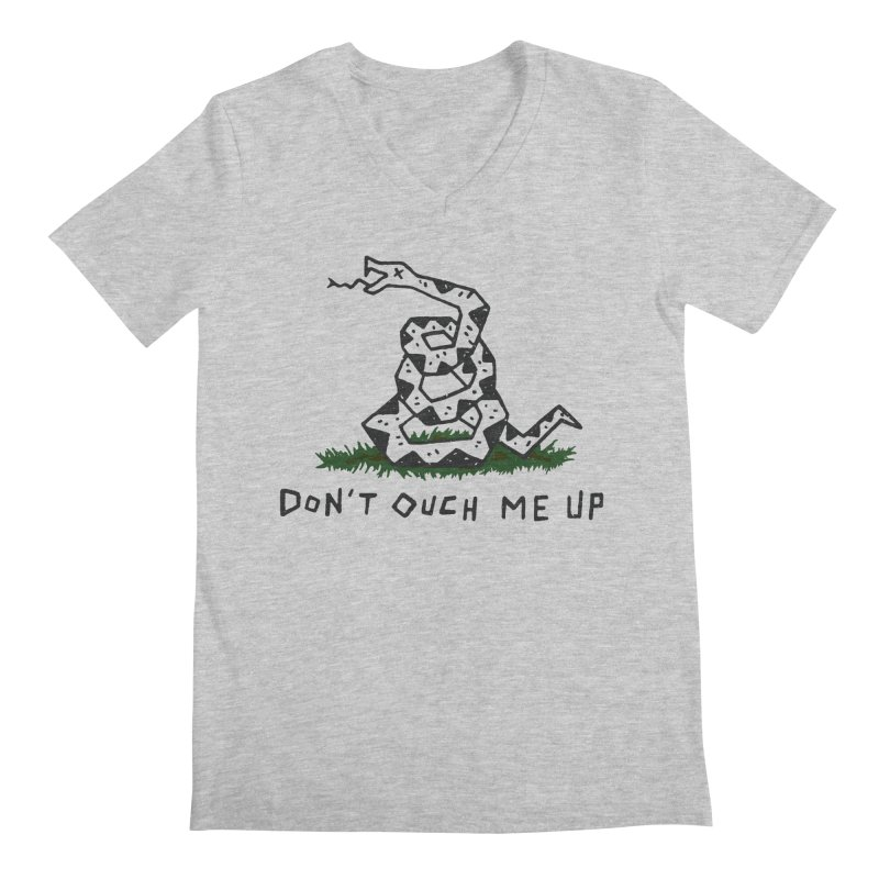 Don't Ouch Me Up Men's Regular V-Neck by Rupertbeard