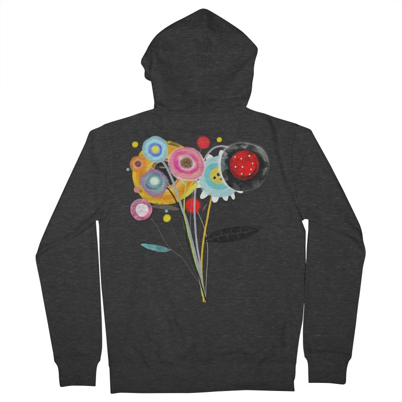 Wedding Bouquet Ranunculus Men's French Terry Zip-Up Hoody by rupydetequila's Shop